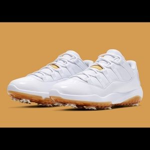 Jordan 11 Golf White Metallic Gold Sz 10.5
